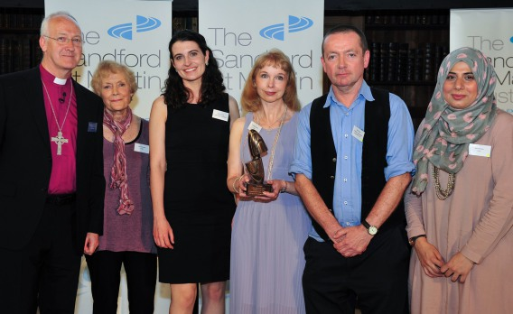 Kristine Pommert and team receive the Sandford St Martin Trust award for Interview of the Year 2016