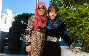 Kristine Pommert and Saba Zaman on location in Oman